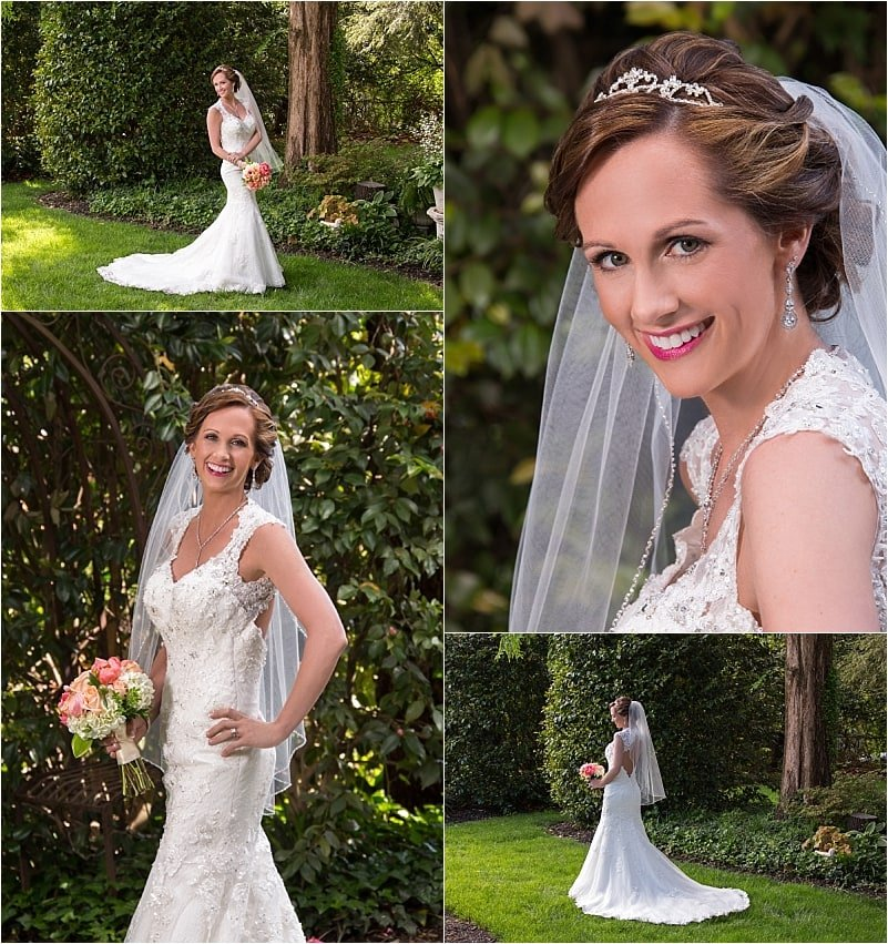 Bridal Portraits in the Garden