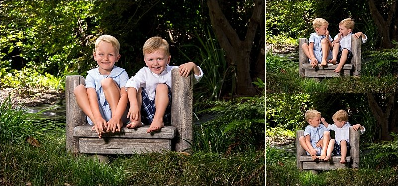 Sibling Portraits in the Garden