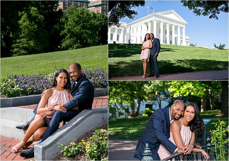 Engagement Session at the State Capitol